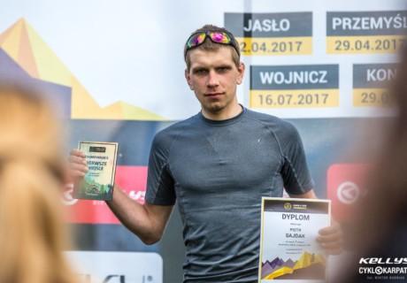 Piotr Sajdak / 1 miejsce OPEN Cyklokarpaty Kluszkowce dystans MEGA – 2017 rok.